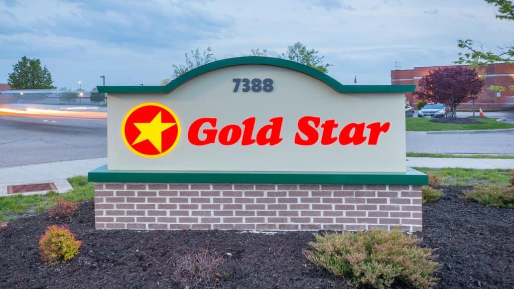 Gold Star franchise sign