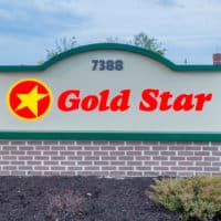 Gold Star franchise sign